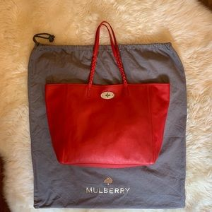 Mulberry Dorset Leather Tote Bag. Red